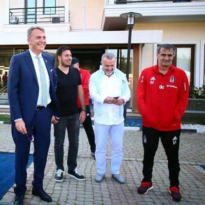 Beşiktaş antrenmanında Fikret Orman sürprizi