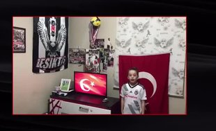 Beşiktaş'ın çocuk sporcularından 23 Nisan mesajı