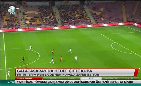 Galatasaray'da hedef çifte kupa