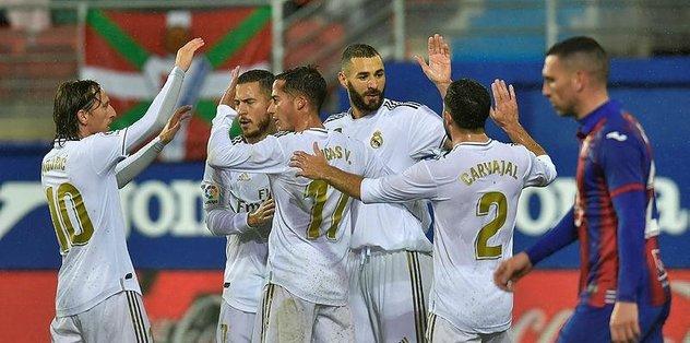 Real Madrid deplasmanda Eibar'ı farklı geçti