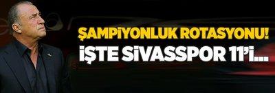 Galatasaray'da şampiyonluk rotasyonu! İşte Sivasspor 11'i...