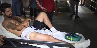 Amatör futbolcu yaralandı!