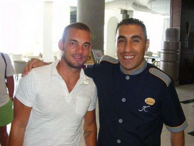 Sneijder daha önce Türkiyeye tatil için gelmişti