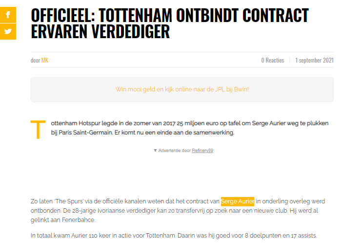 Son dakika transfer haberleri | Serge Aurier Fenerbahçe'ye doğru! 14