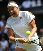 Wimbledon'ın ilk finalisti Kerber oldu