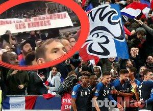 Fransa tribünlerinde skandal pankart! UEFA'dan ceza...