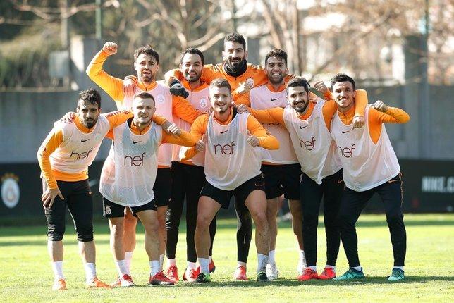 Galatasaray'da neşeli idman!