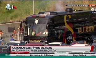 Galatasaray kafilesi stada ulaştı