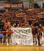 Galatasaraylı voleybolcular Koray Şener'i unutmadı