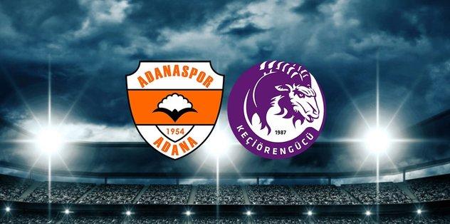 Adanaspor-Keçiörengücü maçı saat kaçta? Hangi kanalda?