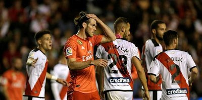 Real Madrid Rayo Vallecano'ya yenildi