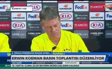 Erwin Koeman'ın basın toplantısı 3 dakika sürdü