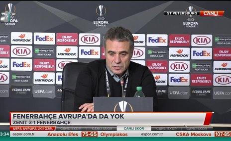 Ersun Yanal: Artık önümüzde ligimiz var ona dönmek zorundayız