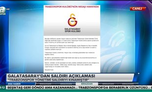 Galatasaray'dan saldırı açıklaması