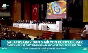 Galatasaray'dan 5 milyon euro'luk kar