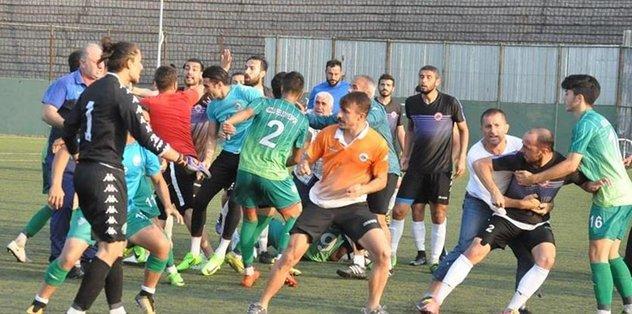 Amatör lig hazırlık maçında büyük kavga