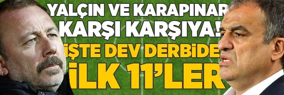 sergen yalcin ve tahir karapinar karsi karsiya iste besiktas fenerbahce derbisinin ilk 11leri 1595157672646 - Beşiktaş ve Fenerbahçe'den dostluk mesajı! Derbi öncesi...