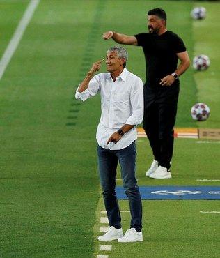 Barcelona teknik direktörü Quique Setien Bayern Münih eşleşmesini değerlendirdi