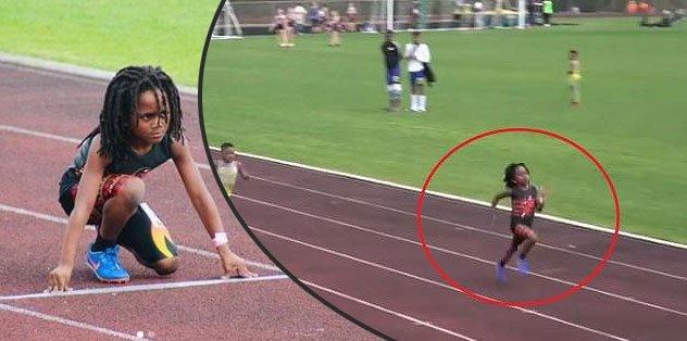 Dünya Rudolph Ingram'ı konuşuyor! 7 yaşında ama 100 metreyi 13 saniyede koşuyor