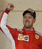 Bahreyn'de kazanan Vettel
