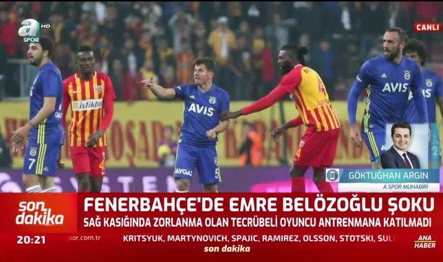 Fenerbahçe'de Emre Belözoğlu şoku!