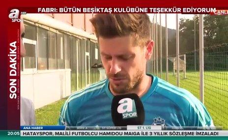 "Fabri Beşiktaş'a veda etti: ""Fulham'la anlaştım"""