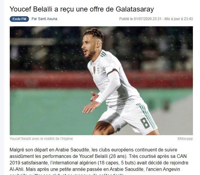 galatasaray transfer teklifini yapti onyekuru yerine youcef belali 1593698076793 - Galatasaray transfer teklifini yaptı! Onyekuru yerine Youcef Belaili
