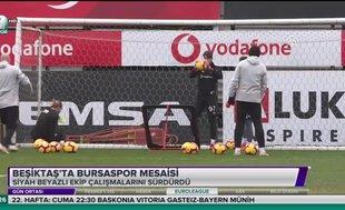 Beşiktaş'ta Bursaspor hazırlıkları sürdü
