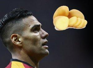 Olay görüntü: Falcao pazarda! Sakatlığına patates önerdiler