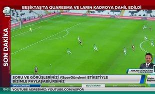 Beşiktaş'ta 2 yıldız kadroya dahil edildi