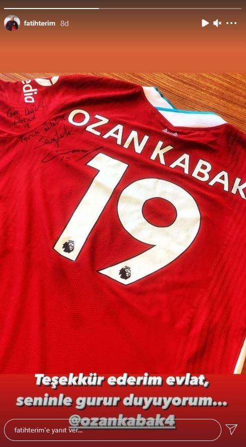 Son dakika spor haberi: Fatih Terim'den Ozan Kabak'a teşekkür paylaşımı!