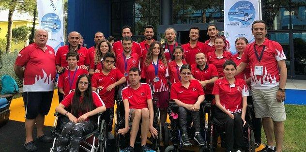 Paralimpik Yüzme Dünya Serisi'nin 6. ayağında toplam 9 madalya
