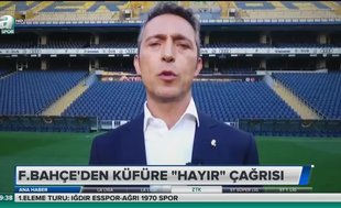 """Fenerbahçe'den küfüre """"hayır"""" çağrısı"""