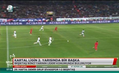 Beşiktaş ligin 2. yarısında bir başka