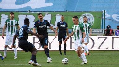 Konyaspor  - Trabzonspor: 1-1 (MAÇ SONUCU - ÖZET)