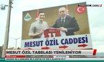 Mesut Özil'in tabelası değiştirildi