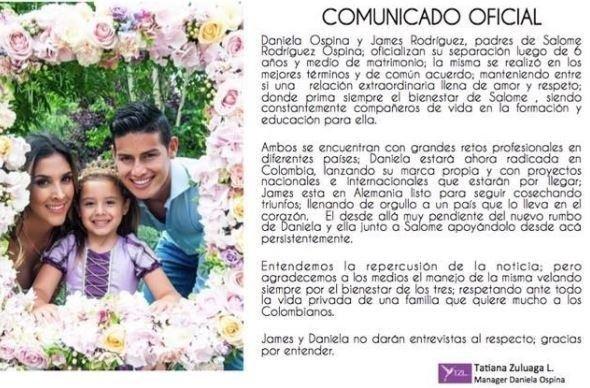 James Rodriguezin evliliği bitti