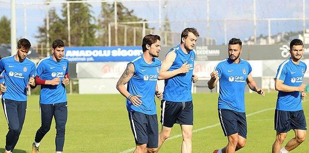 Trabzonspor, Kardemir Karabükspor maçı hazırlıklarını sürdürdü