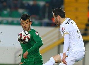 Akhisarspor - Kayserispor maçından kareler