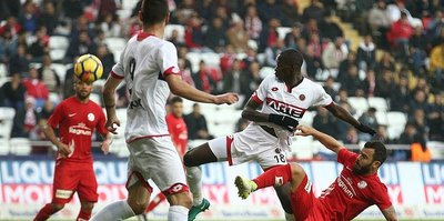 Antalyaspor beraberliği son anda kurtardı