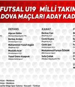 19 Yaş Altı Futsal Milli Takımı'nın kadrosu belli oldu