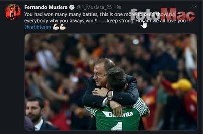 Galatasaraylı futbolculardan Fatih Terim ve Abdurrahim Albayarak'a geçmiş olsun mesajları