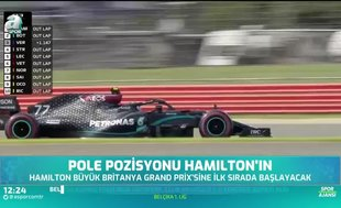 Pole pozisyonu Hamilton'ın!