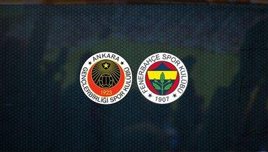 Gençlerbirliği - Fenerbahçe maçı ne zaman, saat kaçta ve hangi kanalda canlı yayınlanacak?   Süper Lig