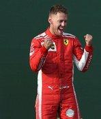 Formula 1 Bahreyn'de pole pozisyonu Vettel'in