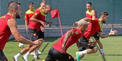 Göztepe'de Osmanlıspor maçı hazırlıklarını sürdürdü