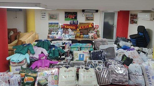 Kayserisporlu taraftarlardan deprem mağdurlarına büyük destek! #
