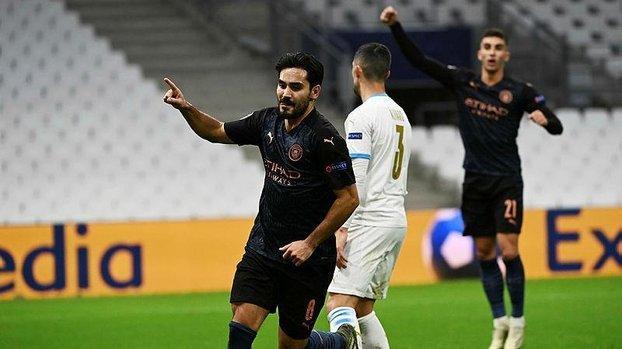 Şampiyonlar Ligi: Marsilya 0-3 Manchester City   MAÇ SONUCU #