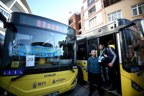 Fenerbahçeli taraftarlar Vodafone Park'a ulaştı
