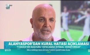 Alanyaspor'dan kural hatası açıklaması